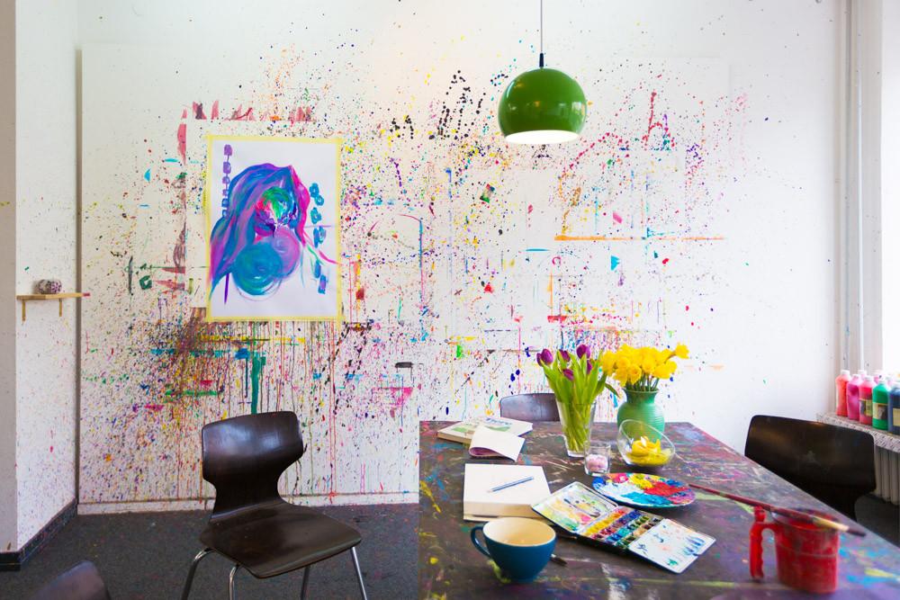 Atelier Farbspiel Frankfurt am Main - Über mich und das Atelier